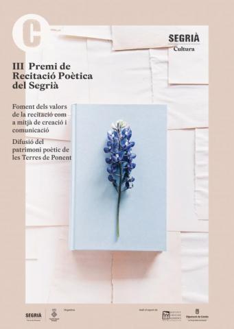 Cartell de la 3a edició del Premi de Recitació Poètica del Segrià