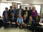 Trobada entre les entitats sardanistes participants, juntament amb el President del Consell Comarcal del Segrià a la seu de l'ens comarcal.